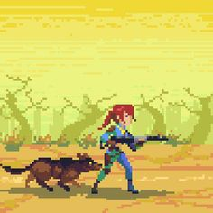 If Fallout 4 looked like this gorgeous pixelart I would still play the crap out of it, hell I'd play it if it looked like Dwarf Fortress, stop complaining about the graphics you weirdos.  Artist http://hendryroesly.deviantart.com/gallery/