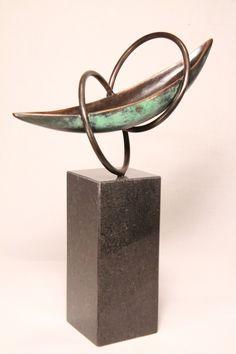 bronzen beeld boot Verbondenheid