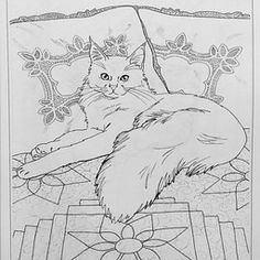 Cats Quilts Adult Coloring Book Free Pages