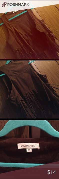 Fringe Vest Great fringe vest great with jeans and tank tops. Jackets & Coats Vests