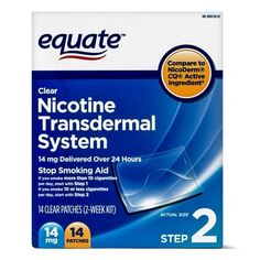 Equate Nicotine Transdermal System Step 2 Clear Patches, 14 mg, 14 Ct Zayn, Call Uber, Nicotine Patch, I Quit Smoking, Patches, Withdrawal Symptoms, Smoking Cessation, Active Ingredient, Drugs