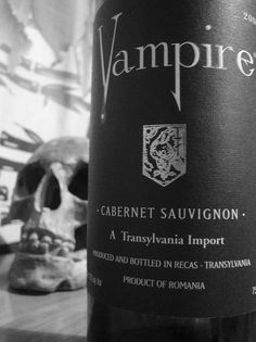 You can't have a gothic wedding without some Vampire Wine.