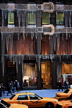 Fendi store, New York, festive decorations for Christmas ...