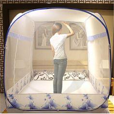 Pas cher Lit Double moustiquaire dôme Elegent Summer House Bed compensation…
