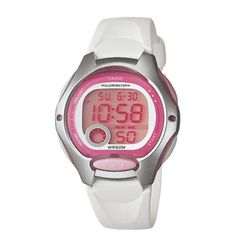 Ladies Digital Sports Watch by Casio Ladies, the sporty style and functionality of a digital watch, with the dependability of a bat. Digital Sports Watch, Digital Watch, Sport Watches, Watches For Men, White Watches, Casio Digital, Sport Casual, Sporty Style, Workout Gear