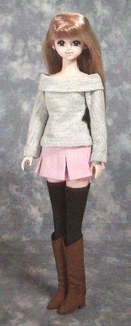 ボックスプリーツスカート 「パプペポ」着せ替え人形の手作り服の作り方