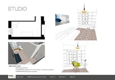 Esame finale corso interior design (www.madeininterior.it): progetto di Barbara Volontè