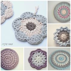 Making eye - a project under - User knitting trivets barbed-Shirt Easy Crochet Hat Patterns, Crochet Basket Pattern, Crochet Motif, Crochet Doilies, Crochet Stitches, Free Crochet, Knit Crochet, Yarn Projects, Crochet Projects