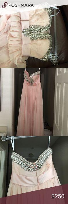 Pastel pink Sherri hill dress Long pastel pink dress , worn once Sherri Hill Dresses Prom