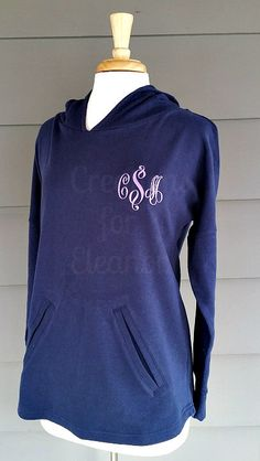 Women's Monogrammed Fitted Hooded Sweatshirt