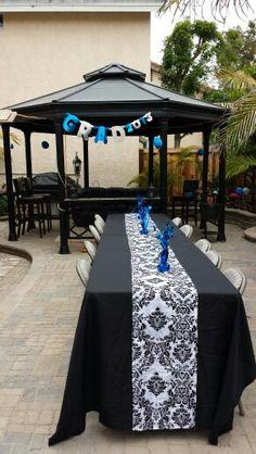 Graduation party set up