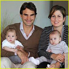 Roger Federer and family