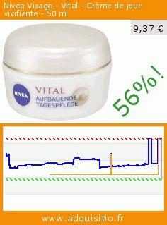 Nivea Visage - Vital - Crème de jour vivifiante - 50 ml (Beauté et hygiène). Réduction de 56%! Prix actuel 9,37 €, l'ancien prix était de 21,50 €. http://www.adquisitio.fr/nivea/visage-vital-cr%C3%A8me-jour