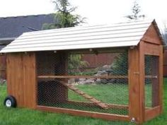 Moveable chicken coop outdoor-decor