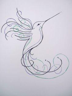 Hummingbird sketch design by InmateHarley