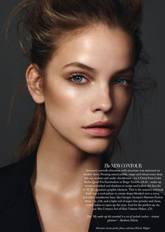 The New Contour - Barbara Palvin by Jonas Bresnan for Harper's Bazaar UK September 2012
