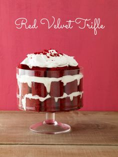 Red Velvet Trifle #valentinesday #desserts