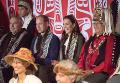 Once inside the Haida Heritage Centre and Museum, William and Kate were addressed by the President of the Haida Nation and watched a cultural performance from around 30 local children