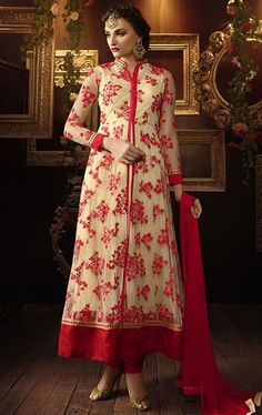 Charming Beige Designer Salwar Suit