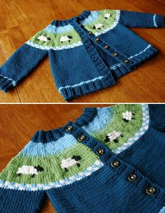 Sheep Yoke Baby Cardigan - Free Pattern Free Knitting Pattern Always aspired to figure out how to knit, yet unclear where to begin? That Total Beginner Knitting. Baby Cardigan Knitting Pattern Free, Kids Knitting Patterns, Crochet Baby Cardigan, Knitting Blogs, Knitting For Kids, Free Knitting, Knit Crochet, Booties Crochet, Beginner Knitting