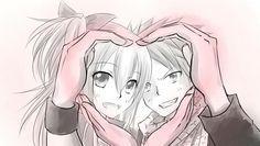 Fairy Tail - Natsu Dragneel and Lucy Hearfilia.
