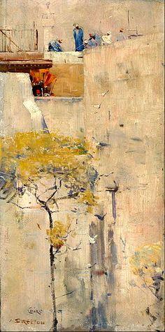 Arthur Streeton - House Builders, Cairo, Egypt, Australian Art Print or Canvas in Art, Prints Australian Painting, Australian Artists, Landscape Art, Landscape Paintings, Landscapes, Abstract Paintings, Google Art Project, Virtual Art, Museum