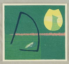 Gen Yamaguchi 1896-1976 Printed 1950's Artelino