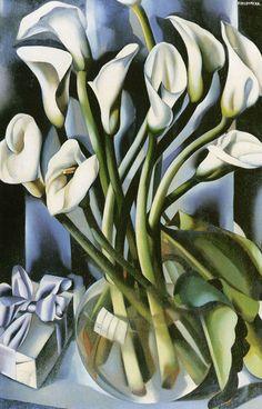 peira:    Tamara de Lempicka (1898-1980): Calla Lillies (not dated)