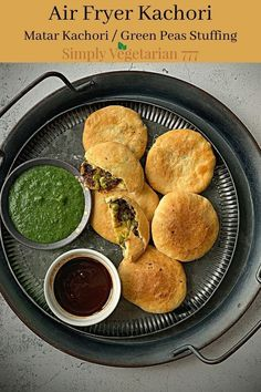 Make these yummy Matar Kachori in air fryer. These are flakey and stuffed with delicious green peas stuffing. Perfect for Diwali Snack. #diwalirecipe #diwalisnack #indiansnack #airfryerkachori #matarkikachori #kachori #indianairfryerrecipes