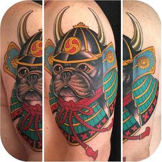 Samurai Pup Tattoo