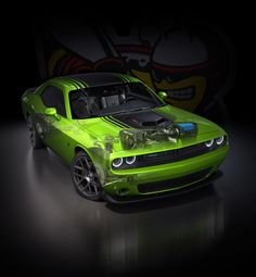 2015 Dodge Challenger for the 2014 July Hot Rod cover rendered in KeyShot by Tim Feher.