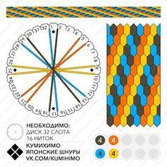 Kongō-gumi 16 threads. More 16 threads pattern 👉 #kongō16 - - - - - - - - - - #кумихимо #kumihimo #kongogumi #組紐 #くみひも #金剛組 #こんごうぐみ