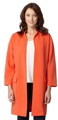 @debenhams J by #Jasper #Conran #Designer #orange #duster #coat