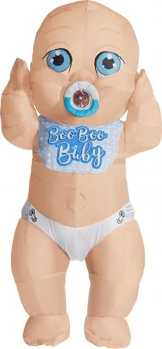 Become a giant baby when you put on this Inflatable Adult Boo Boo Baby Costume. This inflatable costume features a big baby wearing a diaper with a pacifier in its mouth. Cool Halloween Costumes, Baby Costumes, Funny Halloween Costumes, Adult Costumes, Halloween Diy, Boo Costume, Costume Ideas, Baby Fancy Dress Costume, Pea Baby Food