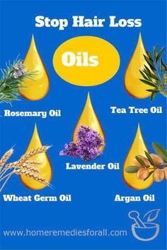 Picture of Home Remedies for Hair Loss Oils