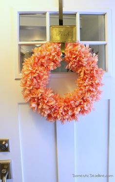 Add a punch of color with this DIY Spring Wreath - Domestic Deadline