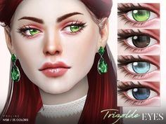 Eyes in 25 colors. Found in TSR Category 'Sims 4 Eye Colors' Sims 4 Tsr, Sims Cc, Sims 4 Cc Eyes, Sims 4 Anime, Queen Makeup, Sims Hair, The Sims 4 Download, Sims 4 Cc Finds, Sims Resource
