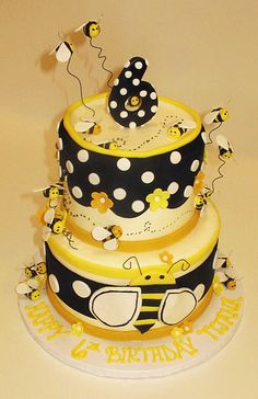 Bumble Bee Tiered Cake | Flickr - Photo Sharing!