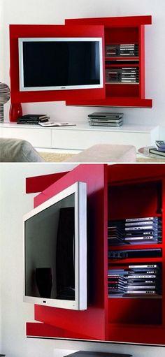 A Design da Diotti é uma empresa italiana que lança produtos funcionais anualmente. Este móvel, por exemplo, se transforma em um espaço para se guardar CDs, DVDs e outros objetos. Pode ser adquirido online.