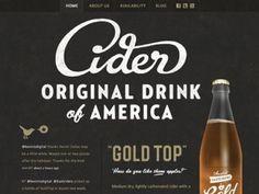 Web Design: Austin Eastciders featuring Gold Top Cider // Austin, Texas - Nice use of type, texture, illustration, minimal color palette. Web Design Trends, Design Web, Graphic Design, Design Ideas, Design Layouts, Blog Design, Subtle Background, Identity, Logos Retro