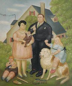 Uma Família - Fernando Botero e suas pinturas ~ O pintor das figuras volumosas