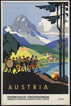 Vintage Austrian Travel Poster