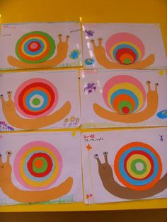 Easy collaborative art projects for kids – Artofit Kindergarten Art Lessons, Art Lessons Elementary, Snail Art, Jr Art, Spring Art, Animal Crafts, Art Classroom, Art Activities, Teaching Art