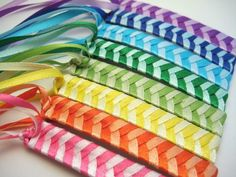 I felt so cool in 4th grade with these in my hair...would my nieces like them?  I can't imagine they are hard to make.  The best is when a little bead was added to the end of the ribbon.  FUN!
