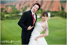Punk Rock Wedding. My wedding showed up in my feed. It caught me off guard