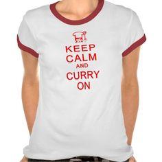 KEEP CALM  CURRY ON shirt - choose style, color #KeepCalm #tshirt