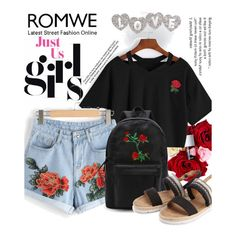 """""""*ROMWE* 3"""" by saaraa-21 ❤ liked on Polyvore featuring WithChic, romwe, shop and polyvorefashion"""
