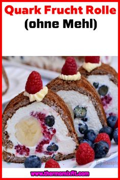 Quark Frucht Rolle (ohne Mehl) Cereal, Fitness, Breakfast, Food, Oven, Food Food, Vintage Photos, Morning Coffee, Eten