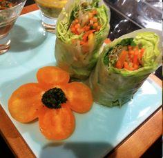 Delish Vegan Raw Summer Rolls with Mango Salsa and Coriander Dipping Sauce