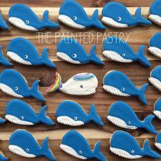 Go Against the Flow - Whale Cookies   Cookie Connection Whale Cookies, Fish Cookies, Baby Cookies, Iced Cookies, Cut Out Cookies, Royal Icing Cookies, Cupcake Cookies, Sand Dollar Cookies, Cookie Designs